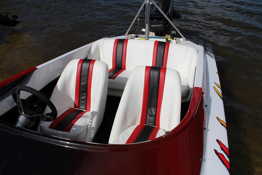 Web blog boat seats finished and floating